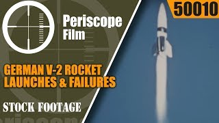 GERMAN V-2 ROCKET LAUNCHES & FAILURES IN COLOR  SILENT FILM WWII 50010