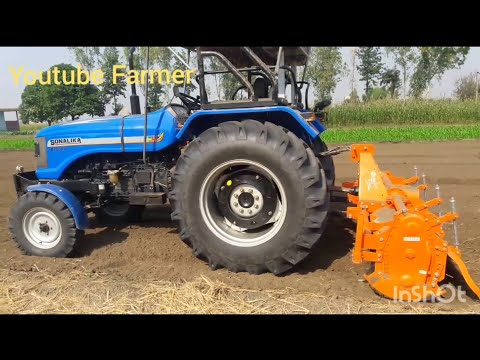 Sonalika Di 60 Rx With 8 Feet Rotavator Powerfull Performance Shaktiman Rotavator