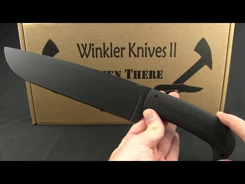 "Winkler Knives WKII Camp Knife Fixed Blade Black Micarta (10"" Caswell)"