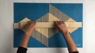 DIY - Making An Aztec Style Wooden Stick Wall Art