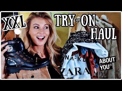 XXL TRY-ON HAUL - Zara, AboutYou, NA-KD, Douglas, The Body Shop I Cindy Jane