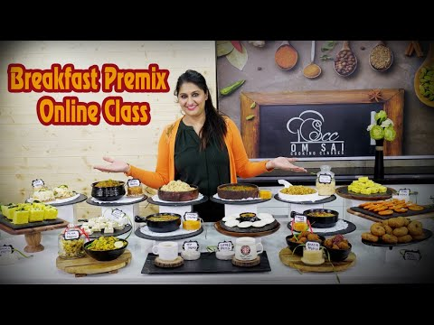 Instant Breakfast Premix for online class To Join☎️ 8551 8551 03, 9850746889 by Om Sai Cooking Class