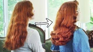 EASY Vintage Curls With Foam/Sponge Rollers || Updated Tutorial!