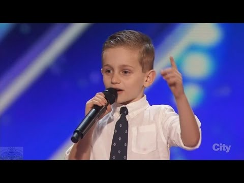 America's Got Talent 2016 Nathan Bockstahler 6 Year Old Stand-up Comedian Full Audition Clip S11E01