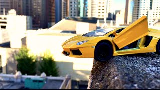 What Will Happen if You Drive Lamborghini off of 100ft Drop?!? -WillitBREAK?