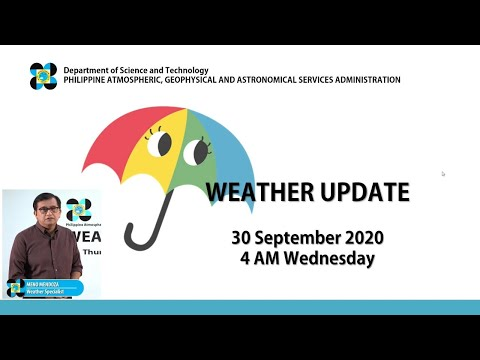 Public Weather Forecast Issued at 4:00 AM September 30, 2020