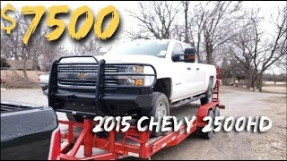 $7500 2015 Chevy Silverado 2500 4X4 - NON-RUNNER /  AUCTION BUY
