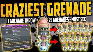 Borderlands 3: CRAZIEST GRENADE EVER - 1 Grenade = 19 GRENADES - MIRV-CLUSTER EXPLODER - MUST SEE
