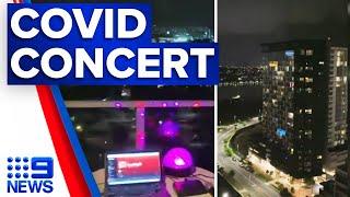 Coronavirus: Brisbane DJ works from balcony during lockdown | 9 News Australia