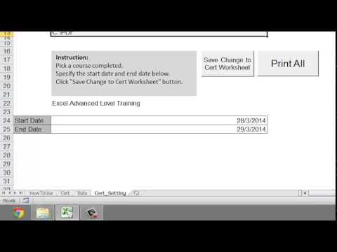 Excel VBA Tip: Certificate System Demo Using Excel VBA Macro ...