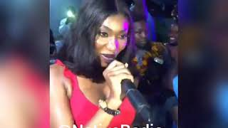Wendy shay shed tears at Ebony's birthday (Jollof Party) with Star boy kwateng 😢😢