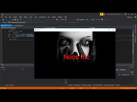 Create Text With Transparent Background VB.NET