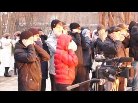 """Накануне успешного пуска с Байконура """"Союза-ФГ"""" школьникам показали огневое испытание ракетного двигателя"""