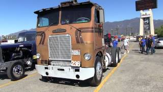 Road Transport's 1971 White/Freightliner Cab-Over Drag Racing Truck At TFK 2013