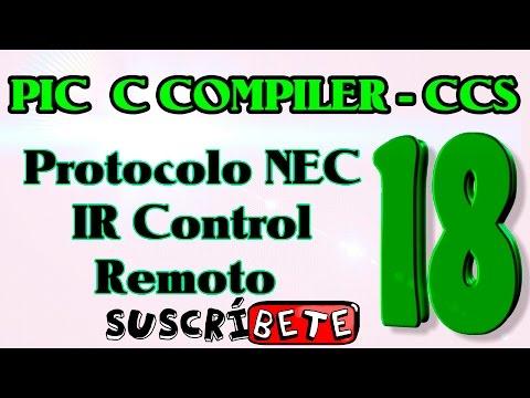 NEC Protocol IR remote control decoder using PIC16F877A CCS