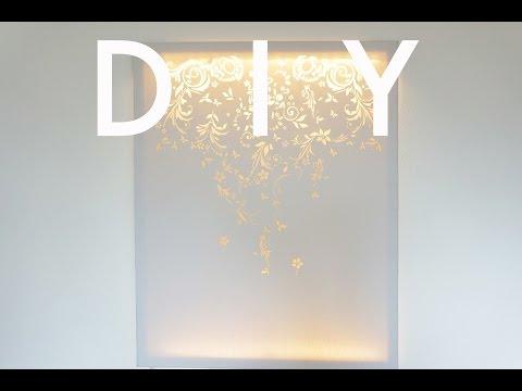 DIY | Canvas Wall Light | cynch makes