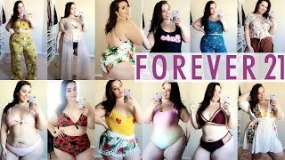 HUGE FOREVER 21+ Swimsuit & Spring Haul 2018 |Plus Size Fashion|