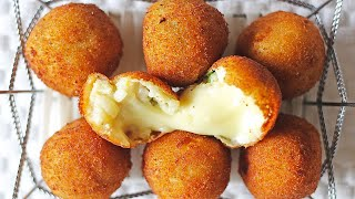 Quick & Simple Cheese Balls Recipe For Beginners - How To Make Potato Cheese Balls