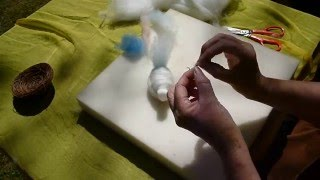 Making A Wool  Needle Felted Bird - Waldorf Inspired
