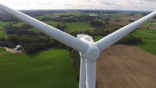 DJI Phantom 3 Drone Gets Up Close And Personal With A Wind Turbine!