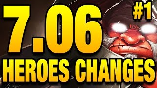 7.06 Dota 2 Update - All Hero Changes - Part 1