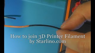 How to join 3D Printing Filament (EE way of doing it)