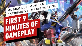 First 9 Minutes of Mobile Suit Gundam Extreme Vs. Maxiboost On Gameplay