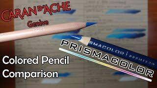 Prismacolor Premier Vs Caran D'Ache Luminance   Colored Pencil Comparison