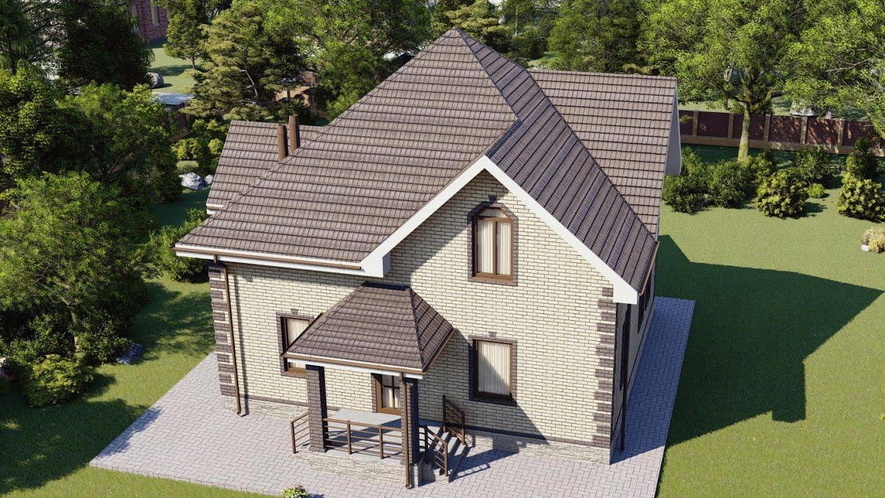 Проект двухэтажного дома из пеноблоков 173 м2