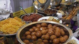 Huge Veg & Non Veg Food In Indian Wedding Ceremony | Biryani /Chicken/Fish /Gulab Jamon/Halva