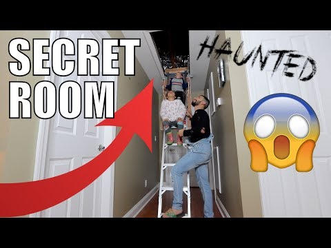 EXPLORING THE SECRET ROOM IN NEW HOUSE!!! *haunted*