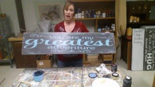 How To Paint Wood Signs
