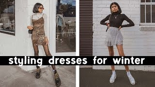 STYLING DRESSES FOR WINTER | Casual Outfit Ideas