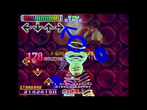 Dancing stage Euromix Non stop mode played on a dance mat on standard mode