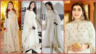 Top Stylish & Cute Formal Dresses ||Decent White Dresses For Girls || Designing With Lace