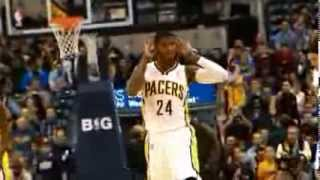 Paul George's Fancy No-Look Dish to Scola