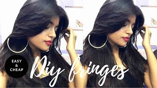 How To Cut And Style Fringes At Home          Easy And Beautiful