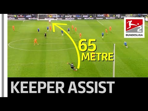 Goalkeeper Assist With Spectacular 65-Metre Pass for Goal