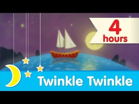 💤 4 HOURS 💤  | Twinkle Twinkle Little Star Piano Lullaby to Help Babies Sleep | Super Simple Songs