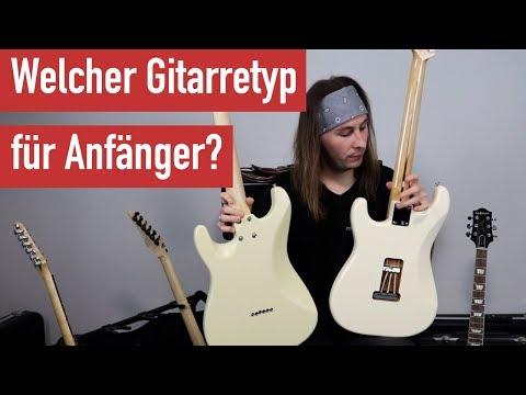 E-Gitarre lernen - Welcher E-Gitarrentyp für E-Gitarren-Anfänger - E-Gitarre kaufen für Anfänger