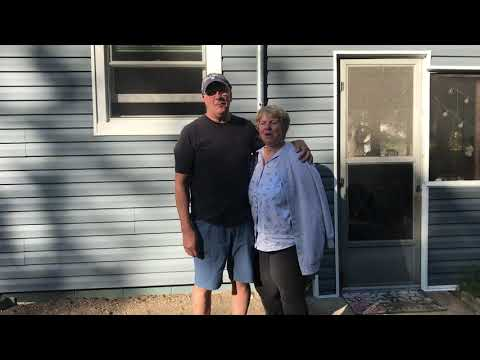 This couple had their roof and siding replaced - they could not be happier!!