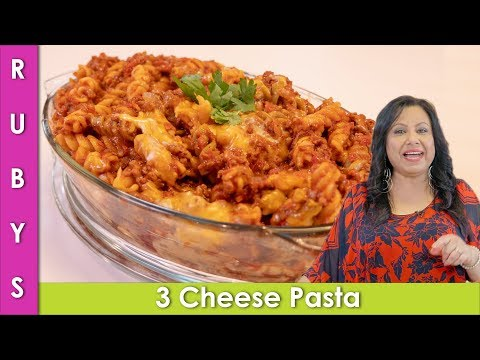 3 Cheese Fusilli Pasta with Keema Recipe in Urdu Hindi – RKK