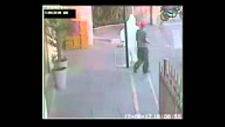 Lucky guy escapes strange accident