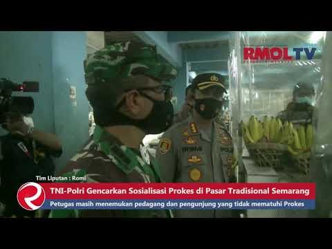 TNI Polri Gencarkan Sosialisasi Prokes di Pasar Tradisional Semarang