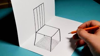 How To Draw A 3D Chair - Trick Art For Kids