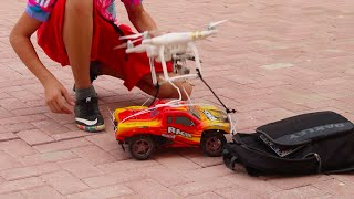 CAN A DJI DRONE FLY AN RC CAR?!!