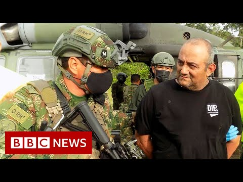 Colombia's most wanted drug lord captured - BBC News