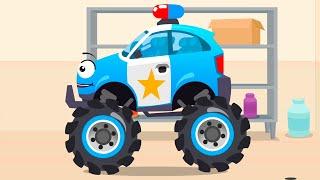 Samochód Policyjny robi sobie tuning – Cars Stories – Bajki dla Dzieci