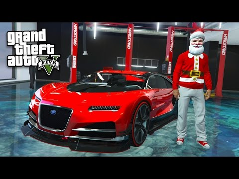 "NEW $2,749,830 ""BUGATTI CHIRON"" TRUFFADE NERO SUPERCAR!! (GTA 5 Festive Surprise 2016 DLC Update)"