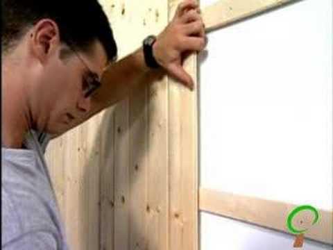 Colocaci n de friso de madera en paredes y techos - Forrar paredes de madera ...